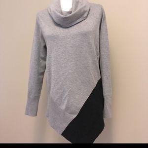 89th & Madison grey cowl neck sweater